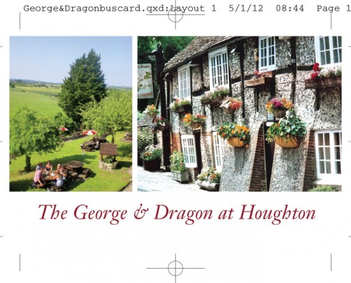 The George & Dragon Business Card