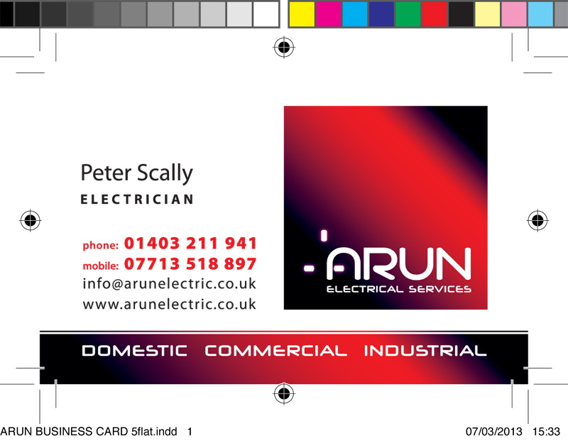 Business cards horsham inca creative print arun business card colourmoves
